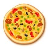 blandad pizza Arkivbild
