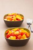 blandad sallad tropiska två för bunkefrukt Arkivbild