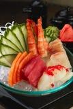 Blandad sashimi, stor sashimiplatta Arkivfoton