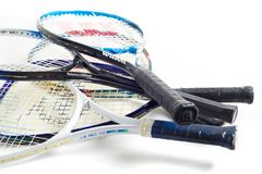 Blandad tennisracket arkivbild