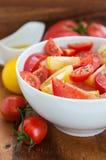 Blandad tomatsallad Arkivbilder