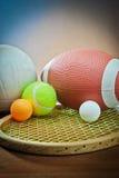 blandad volleyboll för tennis för utrustningrugbysportar Arkivfoton