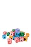 blandade blockchilds letter spelrum Royaltyfri Bild