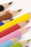 blandade blyertspennor royaltyfri bild
