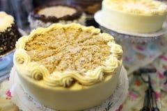 Blandade cakes royaltyfri foto