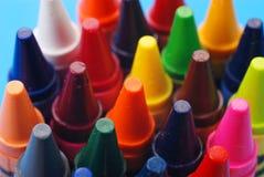 blandade crayons Royaltyfri Fotografi