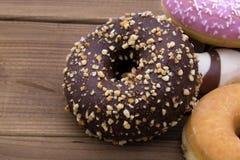 blandade donuts Arkivbild