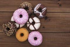 blandade donuts Fotografering för Bildbyråer