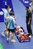blandade doubles 2011 för asia badmintonmästerskap arkivbild