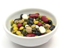 blandade färgglada legumes Fotografering för Bildbyråer