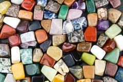 Blandade färgrika juvlar Arkivbild