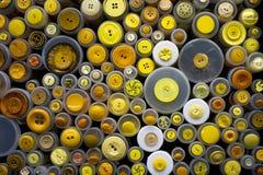 Blandade färgrika knappar 002 Arkivfoton