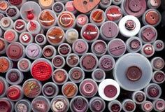 Blandade färgrika knappar Fotografering för Bildbyråer