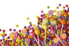 Blandade färgrika sötsaker Arkivbilder