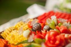 Blandade frukter, uppsättning Arkivfoto