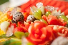Blandade frukter, uppsättning Royaltyfria Foton
