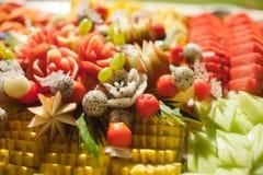 Blandade frukter, uppsättning Fotografering för Bildbyråer