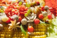 Blandade frukter, uppsättning Royaltyfria Bilder