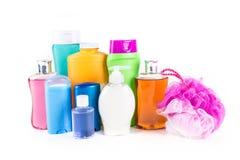 Blandade generiska bad- och kroppprodukter Arkivbild