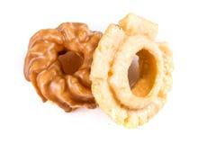Blandade glasade och glaserade donuts Royaltyfria Bilder