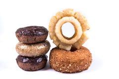 Blandade glasade och glaserade donuts Arkivbild