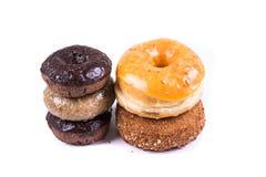 Blandade glasade och glaserade donuts Arkivfoto
