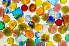 Blandade glass pärlor Royaltyfri Fotografi