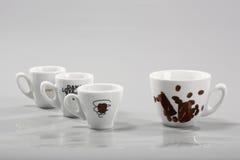 blandade kaffekoppar Royaltyfri Bild