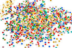 Blandade konfettier för färgrik partidecorationwith royaltyfria foton