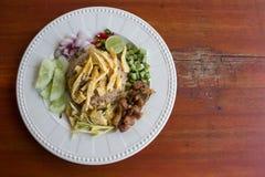 Blandade lagade mat ris med räkadeg Royaltyfri Bild