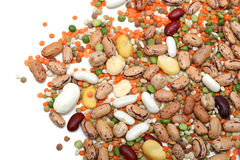 blandade legumes Royaltyfri Foto