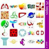 Blandade logoer 4 royaltyfri illustrationer