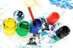 blandade målarfärger för askar Arkivbild