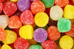 Blandade mångfärgade gummidroppar Royaltyfri Foto