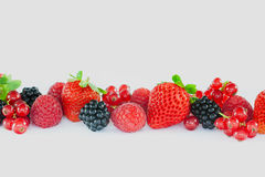Blandade mjuka frukter, makro Royaltyfri Fotografi