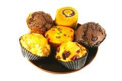 blandade muffinmuffiner royaltyfri bild