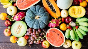 Blandade och blandade frukter Arkivbilder