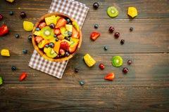 Blandade och blandade frukter Fotografering för Bildbyråer