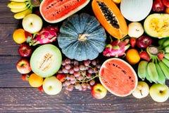 Blandade och blandade frukter Arkivfoto