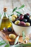 Blandade oliv Arkivfoto