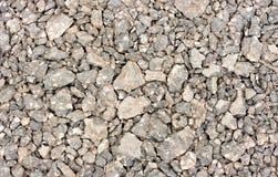blandade pebbles överlappar stenar Arkivfoton
