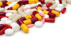 blandade pills Arkivbild