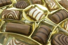 blandade pralines för chokladdjupfält kortsluter Fotografering för Bildbyråer