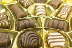 blandade pralines för chokladdjupfält kortsluter Royaltyfria Foton