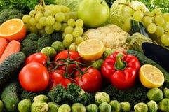 Blandade rå organiska grönsaker Arkivfoto