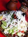 blandade salladgrönsaker Arkivbild