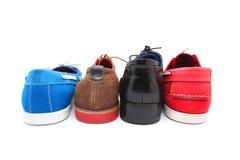 Blandade skor för färgman Royaltyfria Bilder
