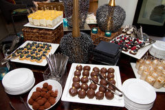 Blandade Sugar Confection Dessert Sweets Buffet Arkivfoton