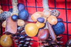 Blandade torra lösa frukter kärnar ur till salu som souvenir som bestås Royaltyfria Bilder