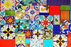 Blandade väggtegelplattor Royaltyfri Foto